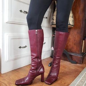 Dark Red Anne Klein boots